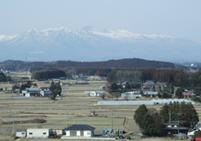 那須赤十字病院から見た那須の山々